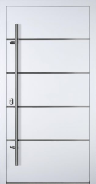 "Aluminium Haustür ""FUHSE"" 90mm (Mit Edelstahlapplikation) RC2"