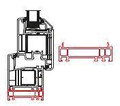 Rahmenverbreiterung für PVC- und ALU-PVC-Türen der Stärke 70 mm (20 x 70 mm) (Flexible Türmontage)