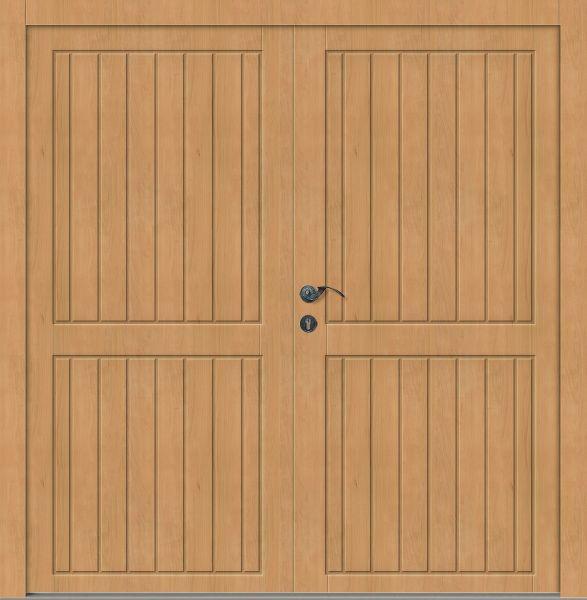 """Holz Nebeneingangstür """"AMPER"""" 62mm 2-flügelig Doppeltür symmetrisch (Schreiner-Qualität)"""