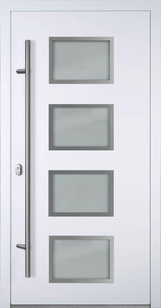 """Aluminium Haustür """"WESER"""" 90mm (Mit Edelstahlapplikationen) RC2"""