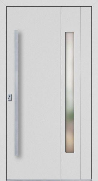 """Aluminium Haustür """"JADE"""" 77mm flügelüberdeckend RC2"""