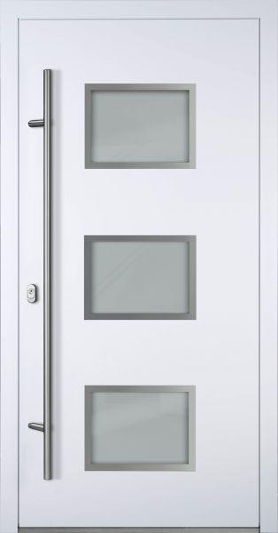 "Aluminium Haustür ""MÜRITZ"" 90mm (Mit Edelstahlapplikationen) RC2"