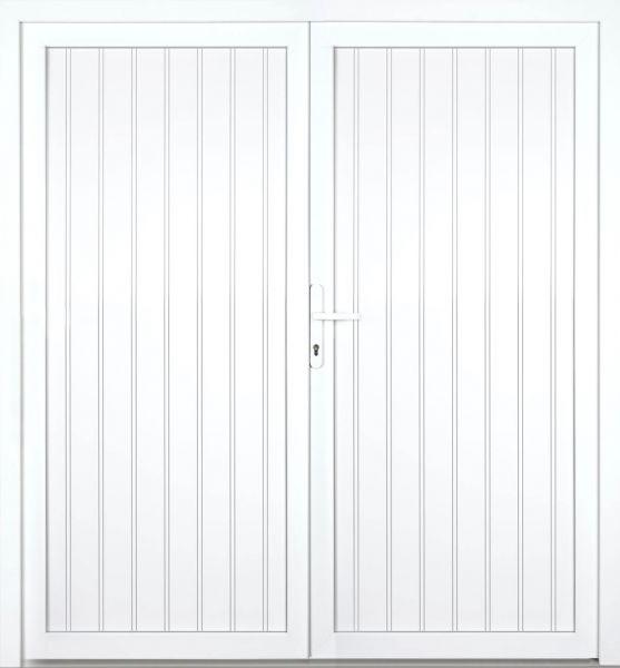 """Kunststoff Nebeneingangstür """"TEGERNSEE"""" 60mm 2-flügelig Doppeltür symmetrisch"""