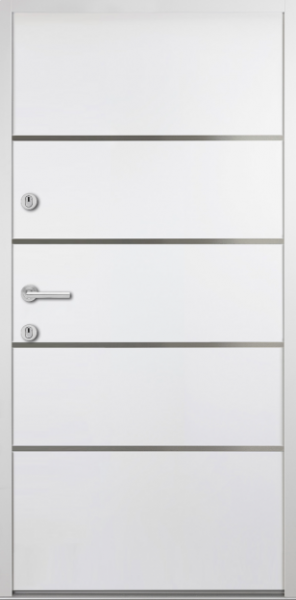 "Aluminium-Stahl Nebeneingangstür ""SPREE"" Weiß 56mm"
