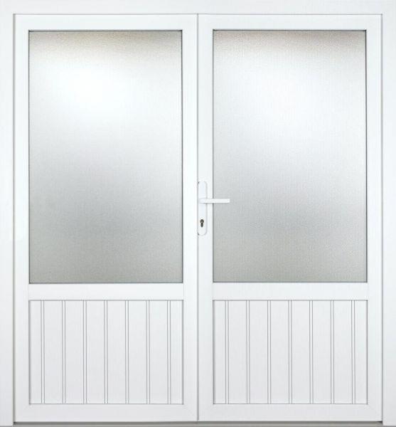 """Kunststoff Nebeneingangstür """"NICOLE"""" 74mm 2-flügelig Doppeltür symmetrisch"""