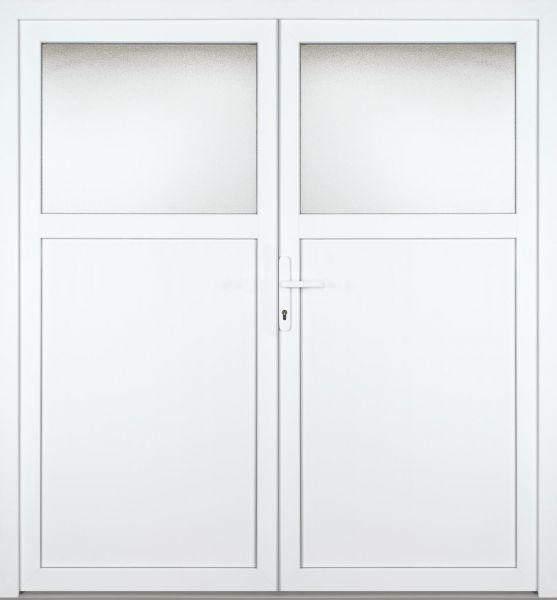 """Kunststoff Nebeneingangstür """"ALSTER"""" 60mm 2-flügelig Doppeltür symmetrisch"""