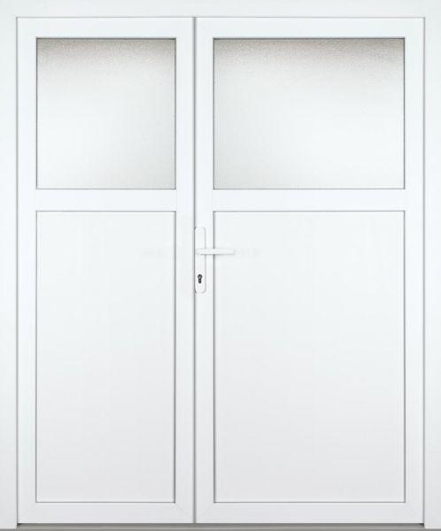 """Kunststoff Nebeneingangstür """"ANTONIA-M"""" 74mm 2-flügelig Doppeltür asymmetrisch"""