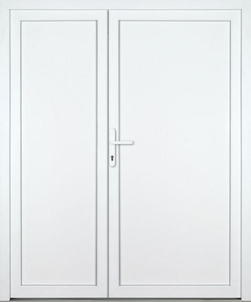 """Kunststoff Nebeneingangstür """"DIANA-M"""" 74mm 2-flügelig Doppeltür asymmetrisch"""