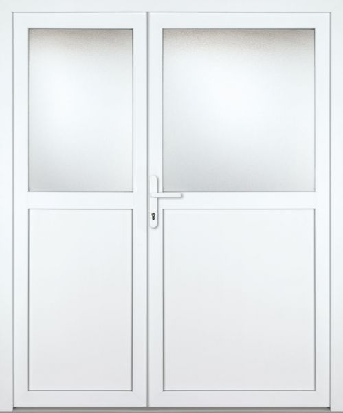 """Kunststoff Nebeneingangstür """"PILSENSEE"""" 60mm 2-flügelig Doppeltür asymmetrisch"""