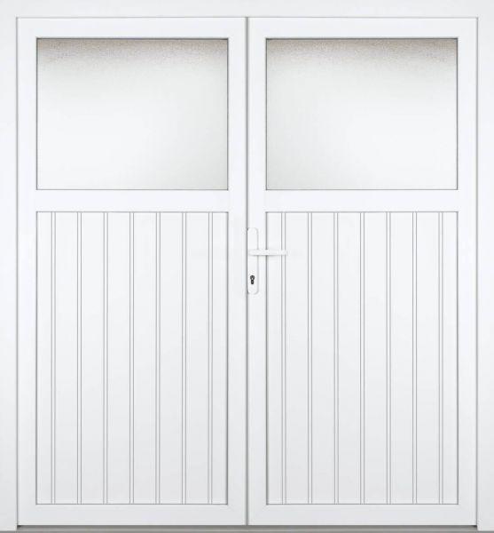 """Kunststoff Nebeneingangstür """"SCHLIERSEE"""" 60mm 2-flügelig Doppeltür symmetrisch"""