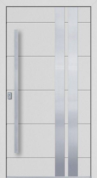 """Aluminium Haustür """"LUNE"""" 77mm flügelüberdeckend RC2"""
