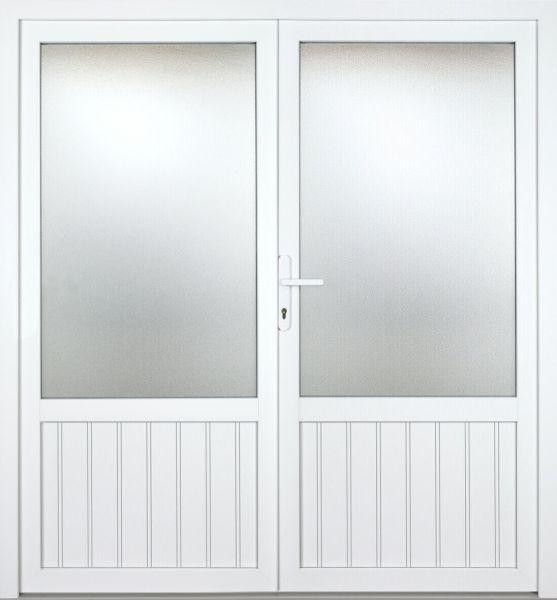 """Kunststoff Nebeneingangstür """"NECKAR"""" 60mm 2-flügelig Doppeltür symmetrisch"""