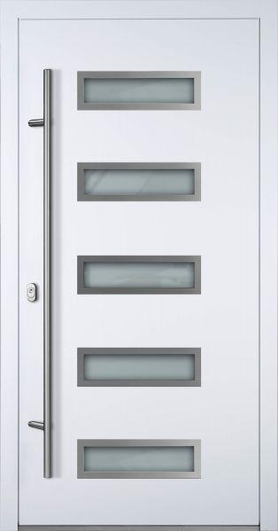"""Aluminium Haustür """"WERRA"""" 90mm (Mit Edelstahlapplikationen) RC2"""