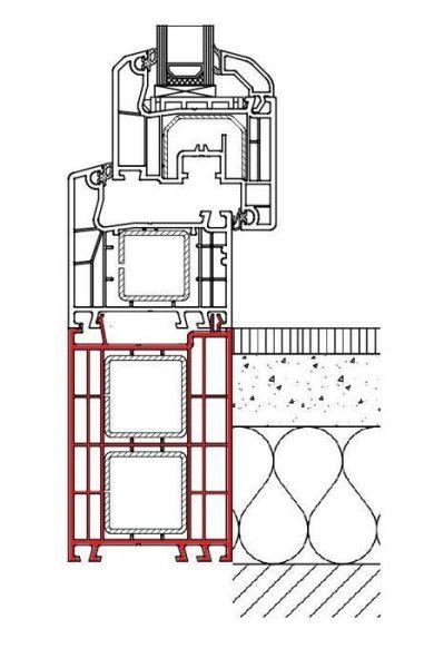 Rahmenverbreiterung für ALU-Türen der Stärke 68 mm (Flexible Türmontage)