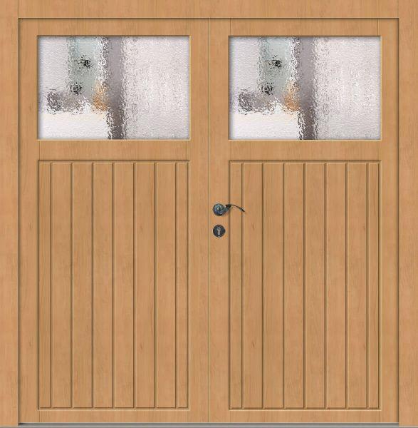 "Holz Nebeneingangstür ""ELSTER"" 56mm 2-flügelig Doppeltür symmetrisch"