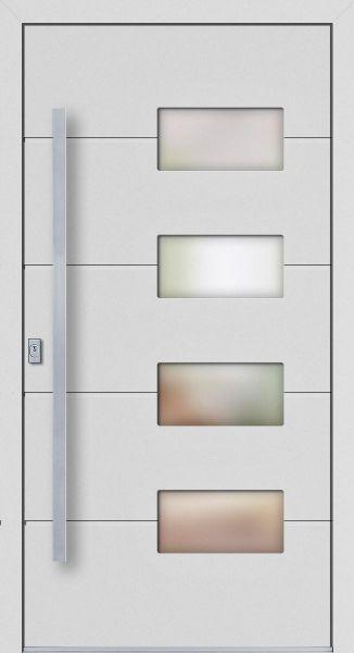 """Aluminium Haustür """"JOSSA"""" 77mm flügelüberdeckend RC2"""