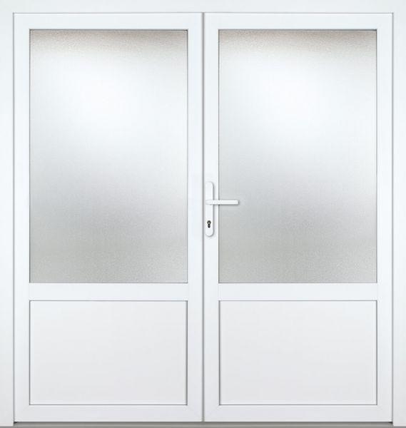 """Kunststoff Nebeneingangstür """"CHIEMSEE"""" 60mm 2-flügelig Doppeltür symmetrisch"""
